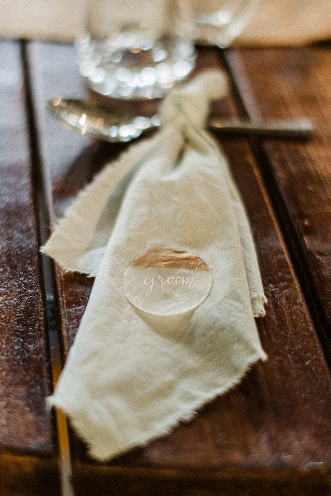eco friendly napkins at wedding