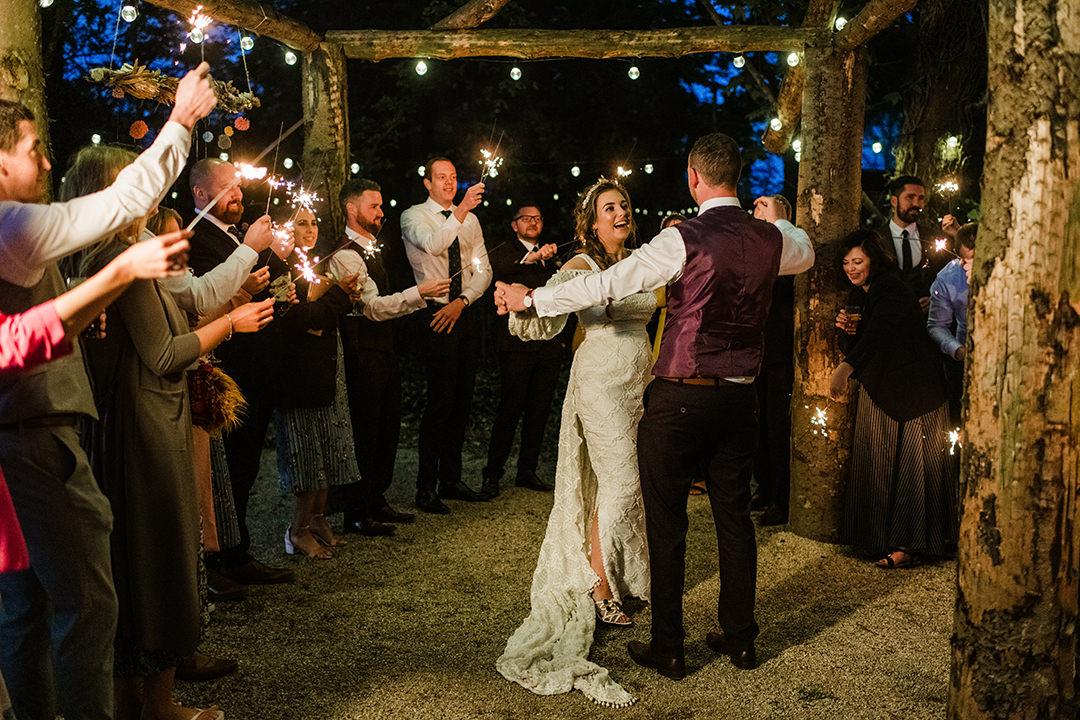 wedding dance under the sky