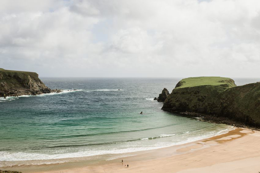 view of Silver Strand beach in malin head donegal