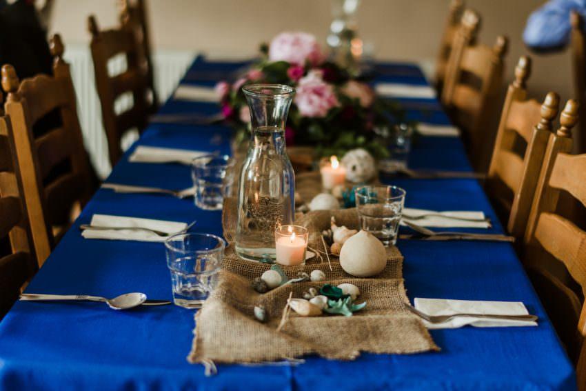 table set at elopement