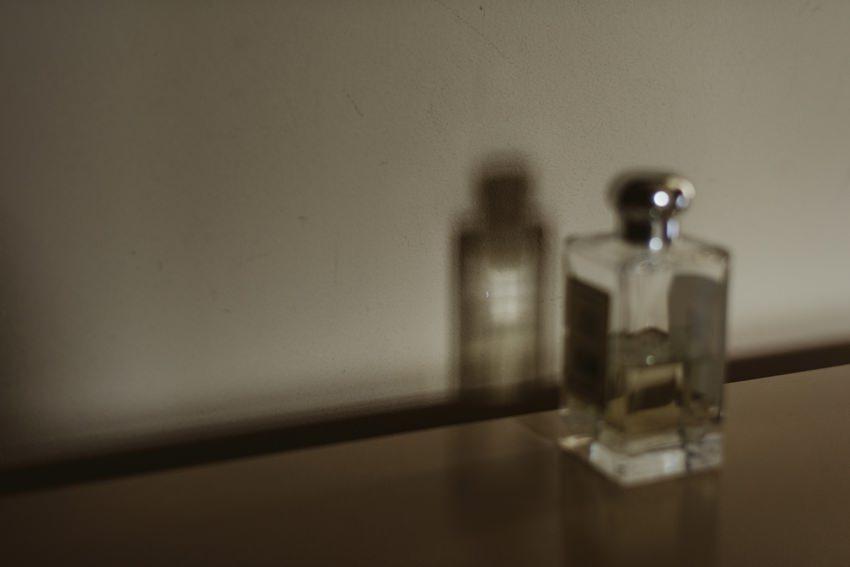 wedding perfum on table