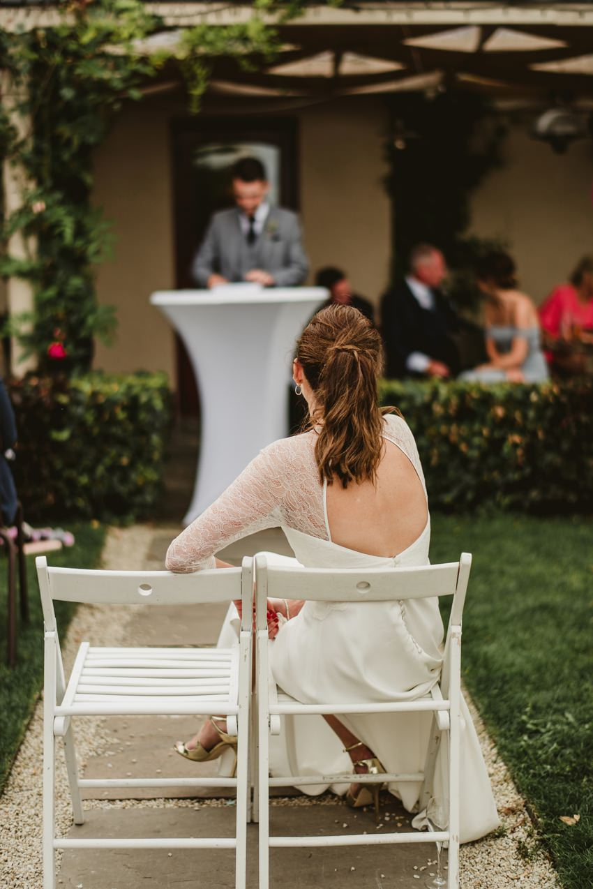back of the bride dress
