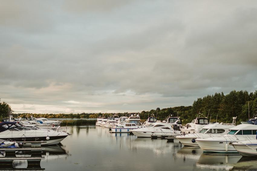 small yachts at marinna Lough Derg