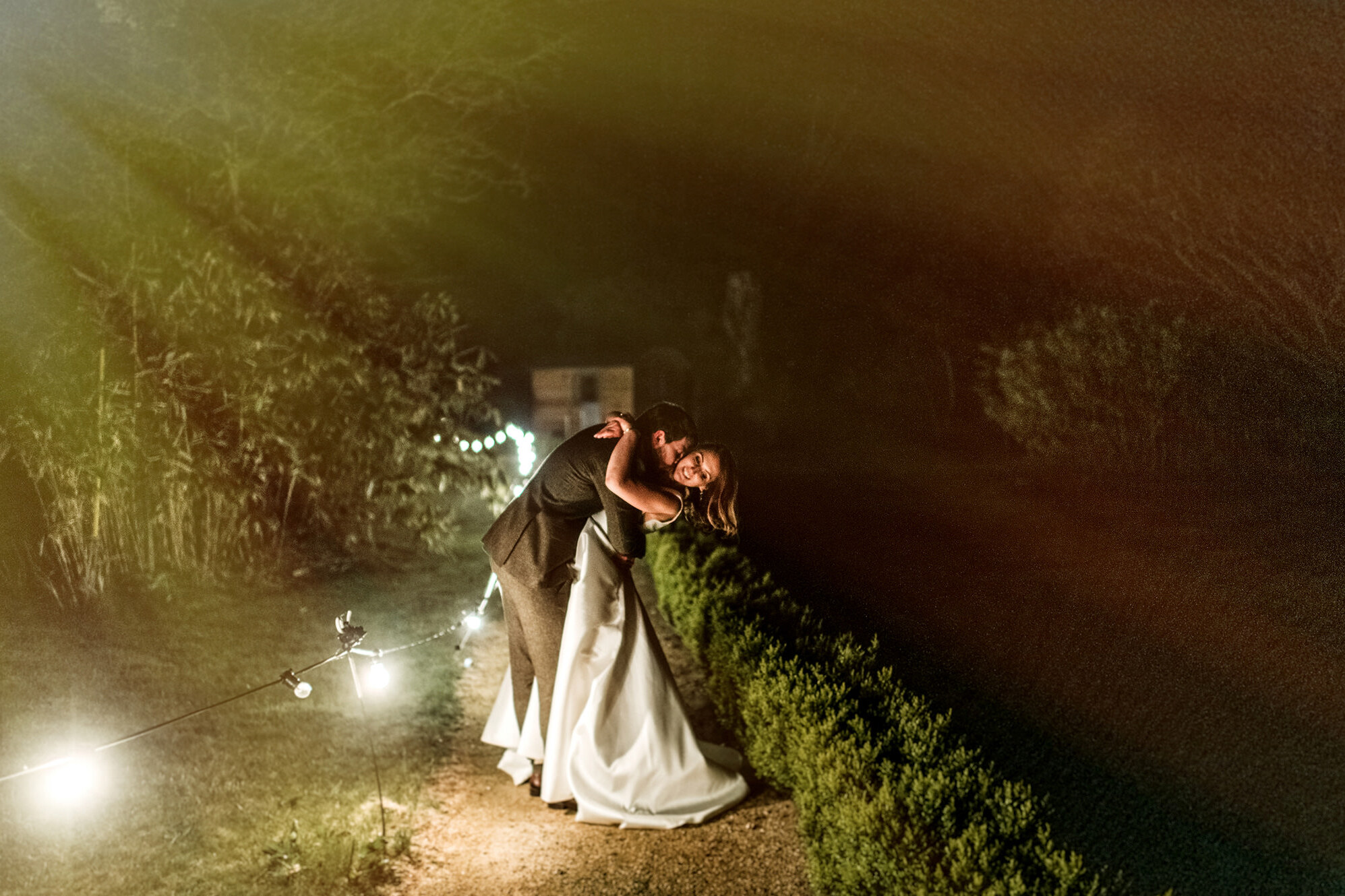 horetown house wedding, darek novak, wedding couples,kiss,night shot of couples,wedding venue